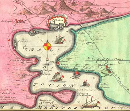 Village Antiques: The Harbour of Toulon - 17th Century Map ...